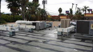 rooftop with ducting